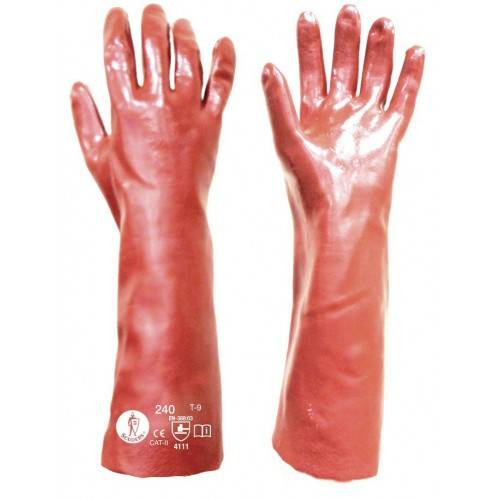 Guantes PVC 40 cms. rojos