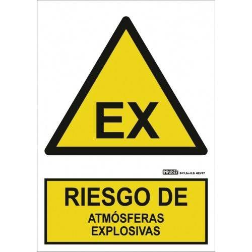 Señal RIESGO DE ATMÓSFERAS EXPLOSIVAS A4 Y A3