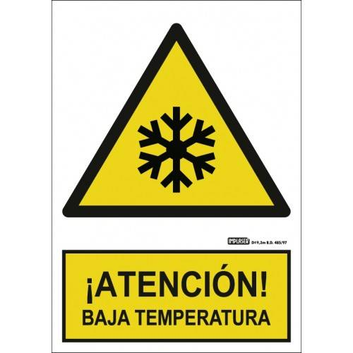 Señal ¡ATENCIÓN! BAJA TEMPERATURA A4 Y A3
