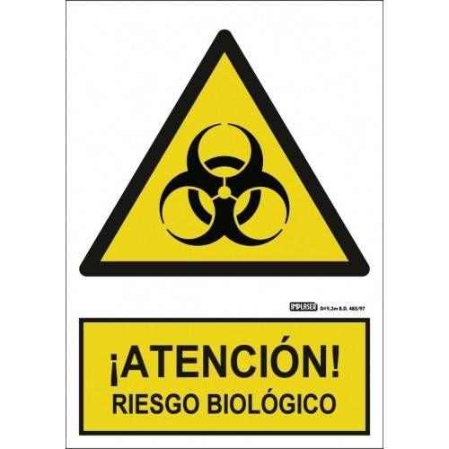 Señal ¡ATENCIÓN! RIESGO BIOLÓGICO A4 Y A3