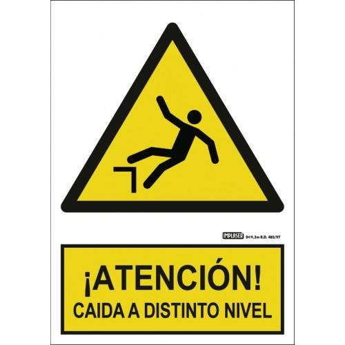 Señal ¡ATENCIÓN! CAIDAS A DISTINTO NIVEL A4 Y A3