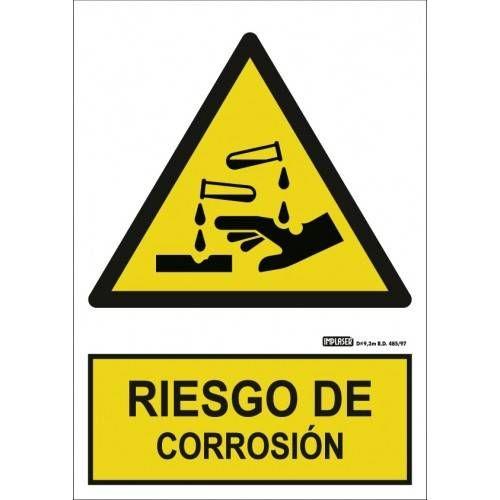 Señal RIESGO DE CORROSIÓN A4 Y A3
