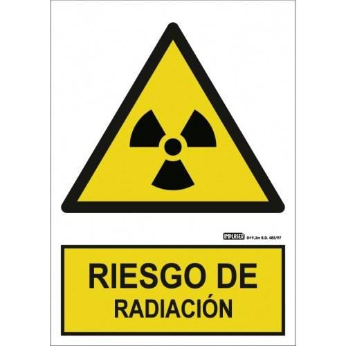Señal RIESGO DE RADIACIÓN A4 Y A3