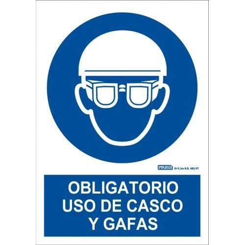 ES OBLIGATORIO EL USO DE CASCO Y GAFAS A4 Y A3