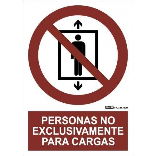PERSONAS NO. EXCLUSIVAMENTE PARA CARGAS A4 Y A3