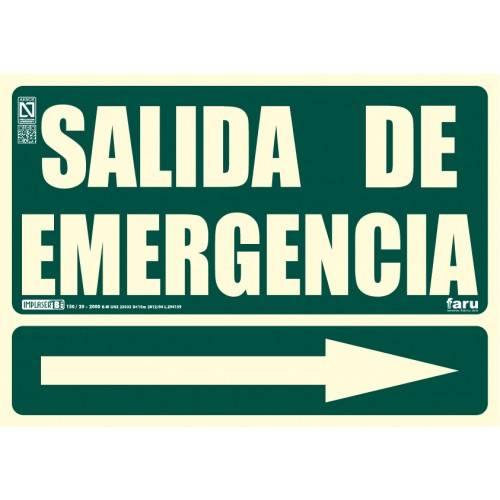 SEÑAL SALIDA DE EMERGENCIA FLECHA DERECHA A4 Y A3