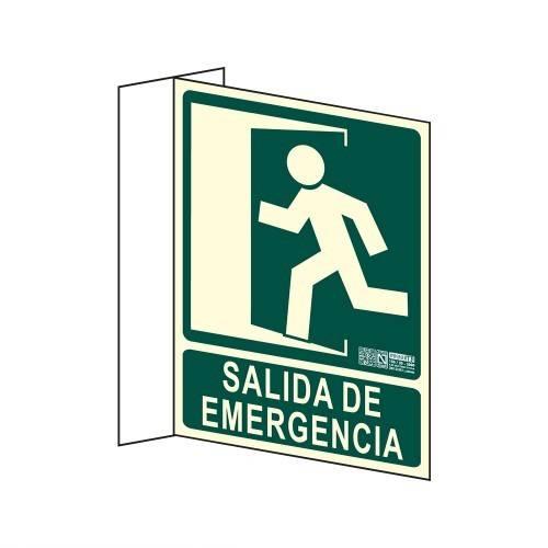 Señal SALIDA DE EMERGENCIA Banderola A4