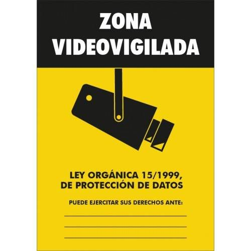 Señal ZONA VIDEOVIGILADA A4