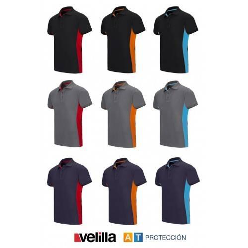 Polo técnico bicolor VELILLA 105504