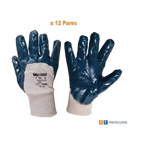 Pack 12 pares guantes nitrilo Talla 7