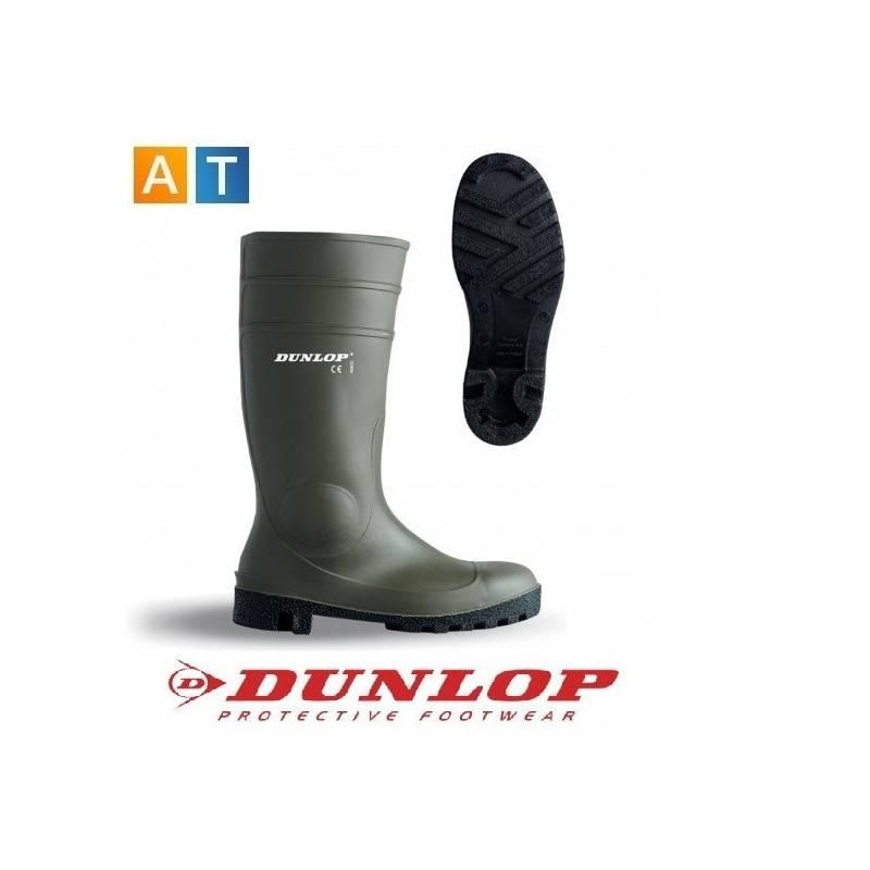 32b548e9 Botas de agua Dunlop verdes con protección OUTLET