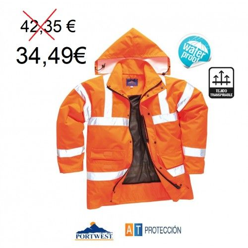 PARKA ALTA VISIBILIDAD IMPERMEABLE RT60