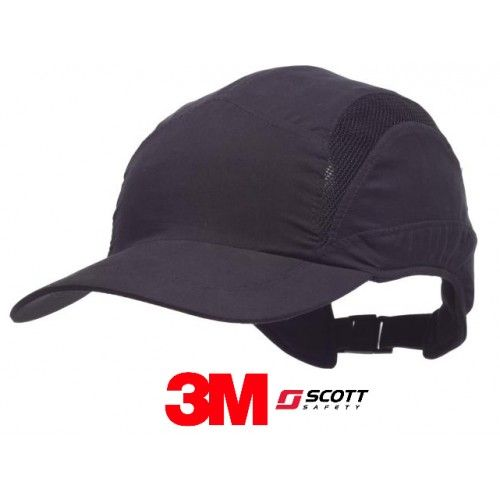 GORRA DE SEGURIDAD ANTIGOLPES 3M SCOTT FIRST BASE 3 NEGRA