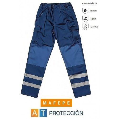 Pantalón retardante e ignífugo con bandas reflectantes PPAZM RF
