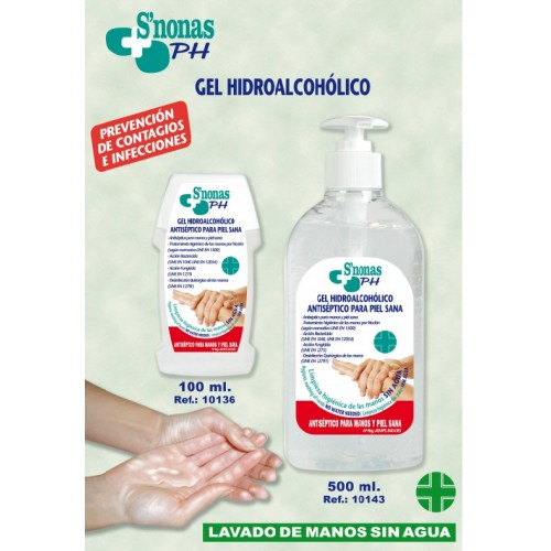 Gel desinfectante manos HIDROALCOHOLICO 500 ml