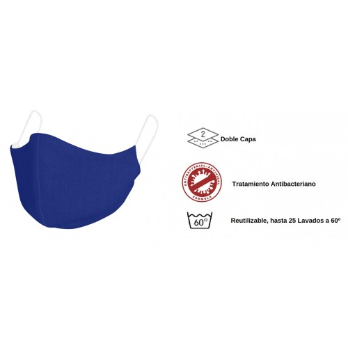 Mascarilla para niños de tela - Reutilizable BLUE