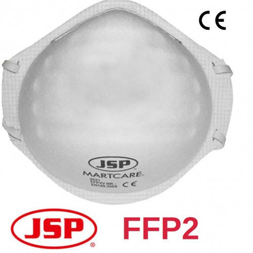Mascarillas FFP2 sin válvula Ajuste en Cabeza JSP - Caja de 20 unidades
