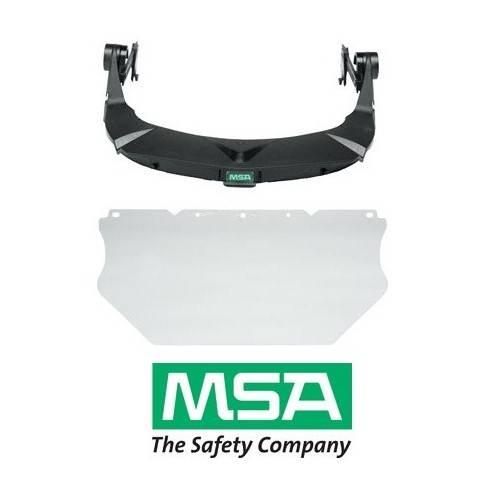 Pantalla facial MSA para acoplar a cascos con ranura