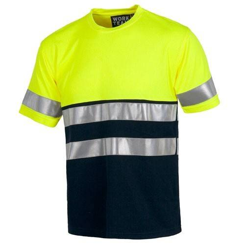 Camiseta bicolor alta visibilidad
