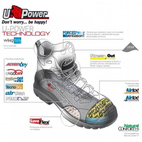 Zapatos U-POWER Coal S1P