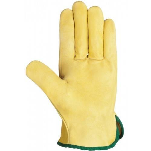 Guantes piel flor amarillos 335R OUT