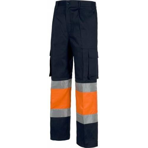 Pantalón alta visibilidad bicolor multibolsillos C4018 outlet