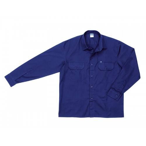 Camisa manga larga tergal azul