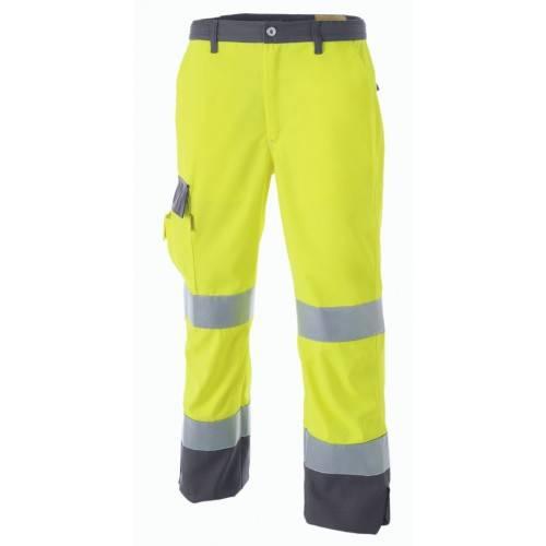Pantalón bicolor Alta visibilidad con bandas