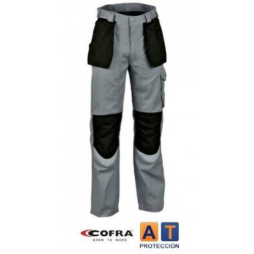 Pantalón tergal COFRA Carpenter gris-negro